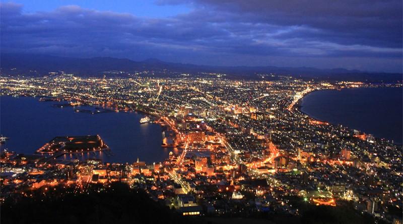 แสงไฟระยิบระยับ จากจุดชมวิว : ฮาโกดาเตะ (Hakodate)
