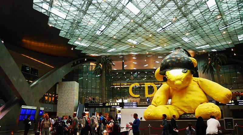 โถงใหญ่ ใจกลางสนามบิน จุดที่นักท่องเที่ยวจำนวนมาก ต้องแวะมาถ่ายภาพหรือเชคอิน : สนามบินนานาชาติฮาหมัด (Hamad International Airport : HIA)