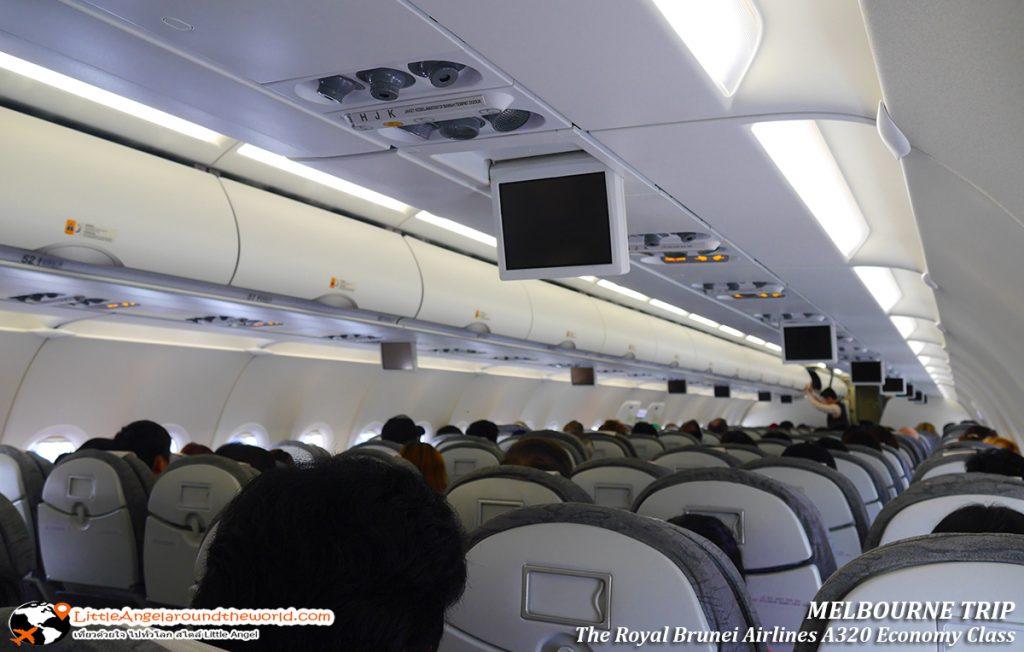 ไฟล์ทนี้เกือบเต็มทุกที่นั่ง : รีวิวสายการบิน royal brunei ไป เมลเบิร์น