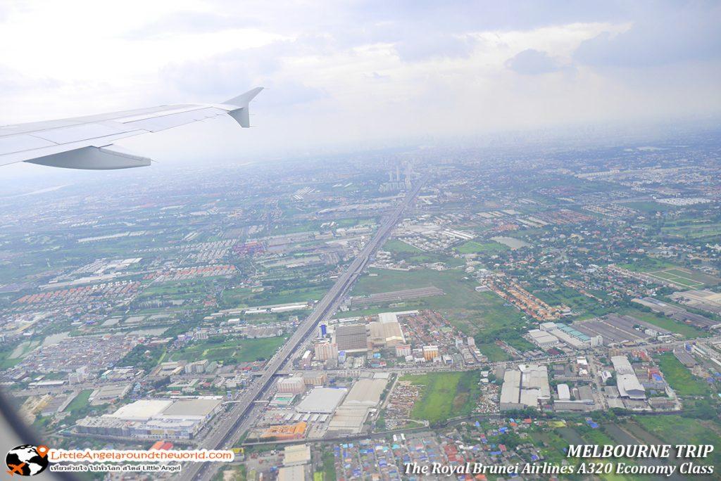 วิวสวยจากมุมสูง ยามบ่าย เมืองไทยมองยังไงก็สวย : รีวิวสายการบิน royal brunei ไป เมลเบิร์น