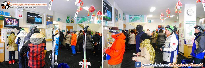 จุดจำหน่ายตั๋ว Ropeway ที่ Mt.Hakkoda : Snow Monsters at Mt.Hakkoda