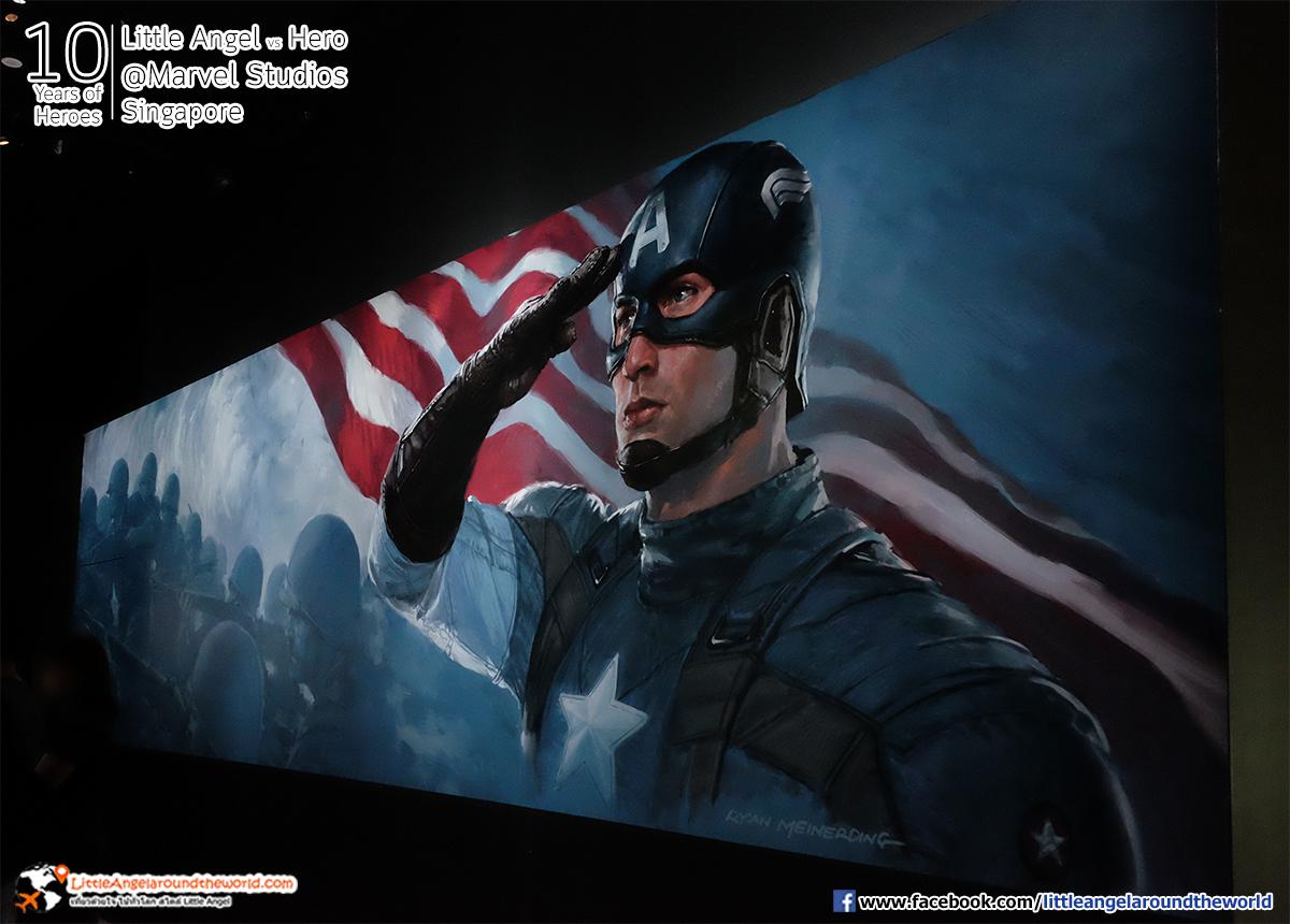 Captain America : Reviews Marvel Studios, Singapore @ArtScience Museum : Ten Years of Heroes