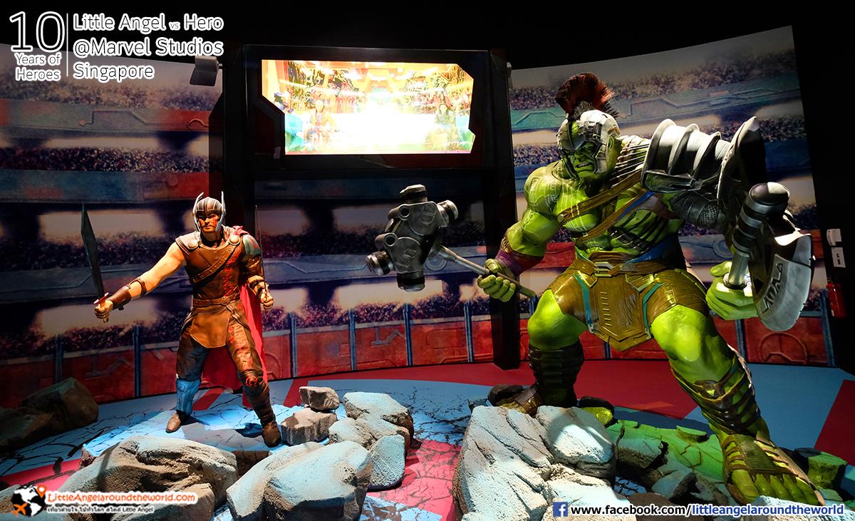 THOR ปะทะ The Hulk : Reviews Marvel Studios, Singapore @ArtScience Museum : Ten Years of Heroes