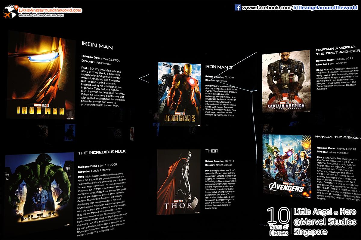 โซนเล่าเรื่องราวของ Marvel : Reviews Marvel Studios, Singapore @ArtScience Museum : Ten Years of Heroes
