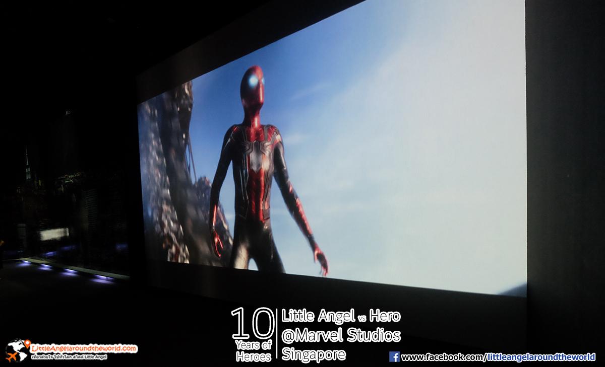 โอ๊ะโอ้ว Spider man มาต้อนรับเลย : Reviews Marvel Studios, Singapore @ArtScience Museum : Ten Years of Heroes